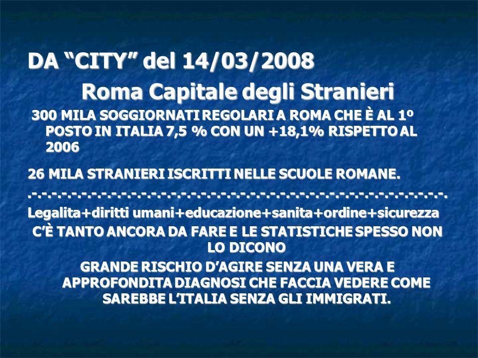 Roma Capitale degli Stranieri