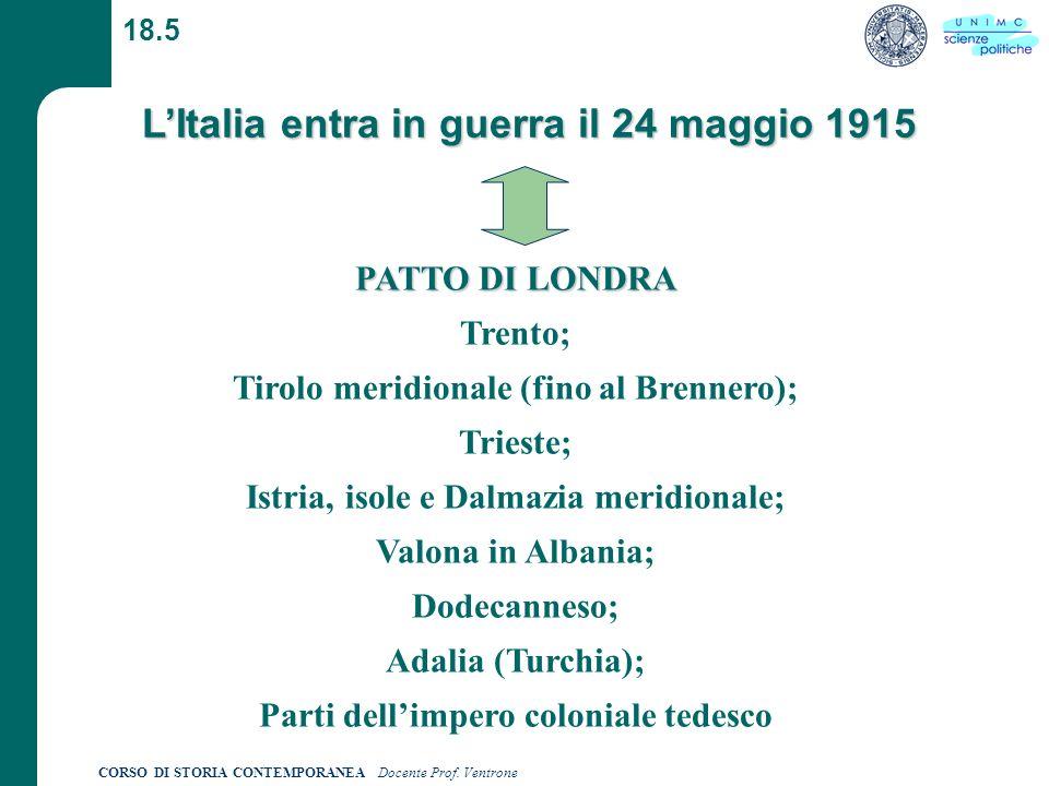 L'Italia entra in guerra il 24 maggio 1915