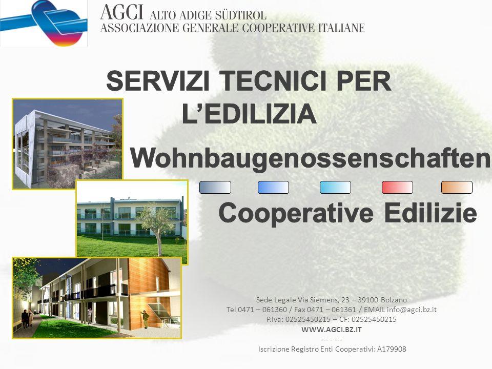 SERVIZI TECNICI PER L'EDILIZIA Wohnbaugenossenschaften