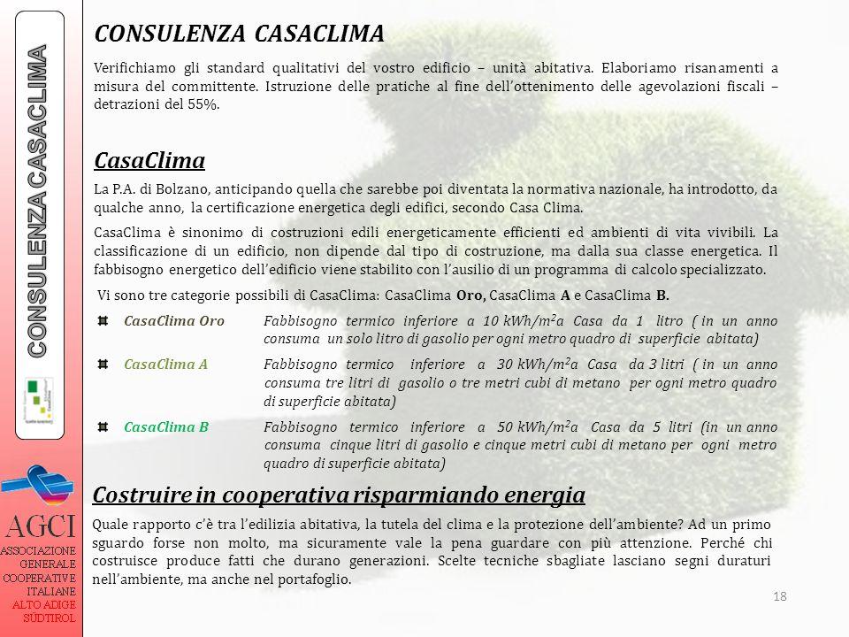 CONSULENZA CASACLIMA CONSULENZA CASACLIMA CasaClima