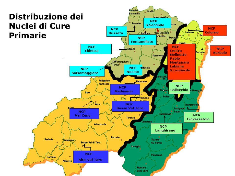 Distribuzione dei Nuclei di Cure Primarie