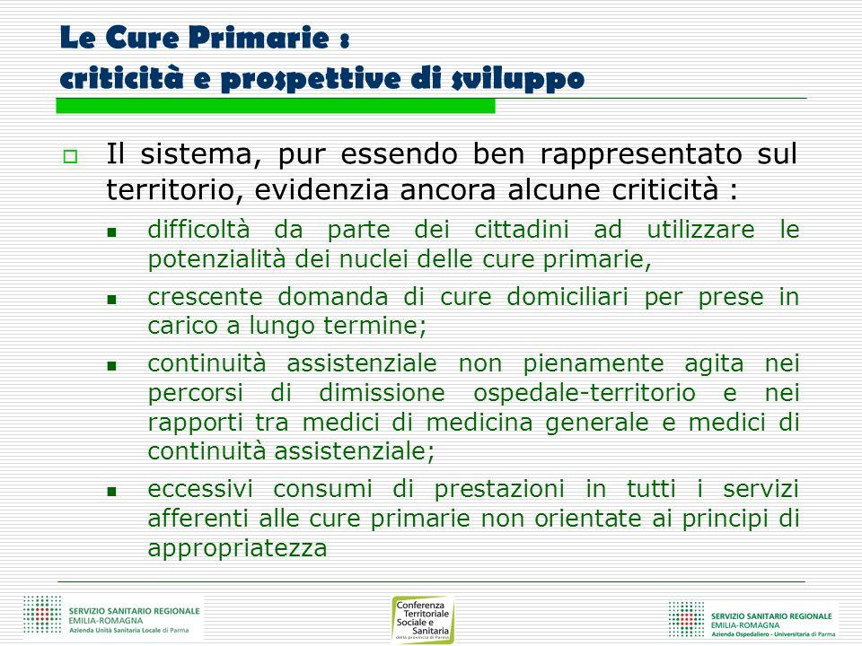 Le Cure Primarie : criticità e prospettive di sviluppo