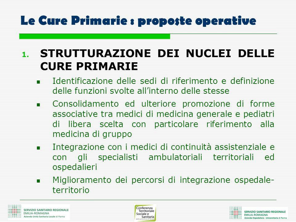 Le Cure Primarie : proposte operative
