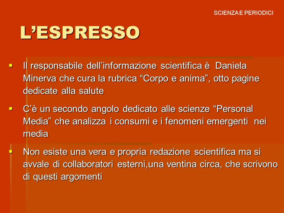 SCIENZA E PERIODICI L'ESPRESSO.