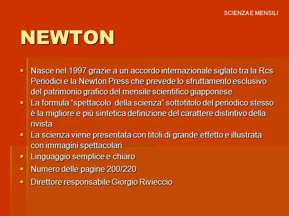 SCIENZA E MENSILI NEWTON.