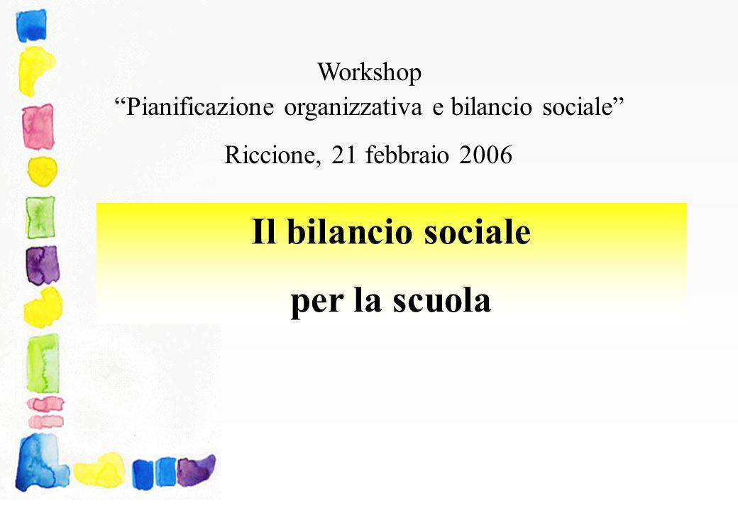 Pianificazione organizzativa e bilancio sociale