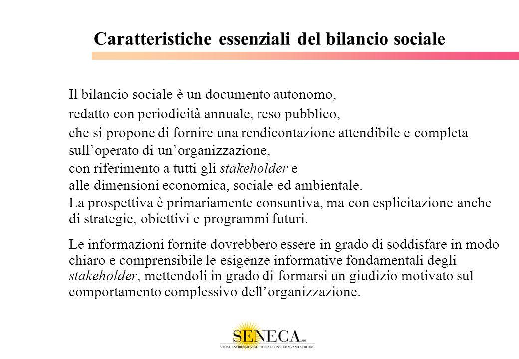 Caratteristiche essenziali del bilancio sociale