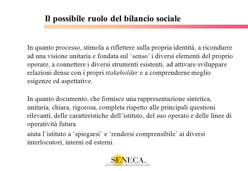 Il possibile ruolo del bilancio sociale