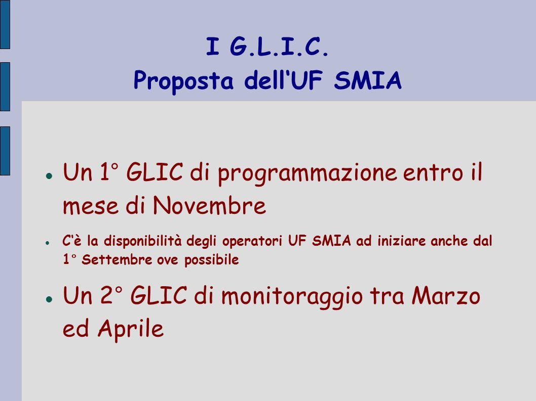 I G.L.I.C. Proposta dell'UF SMIA