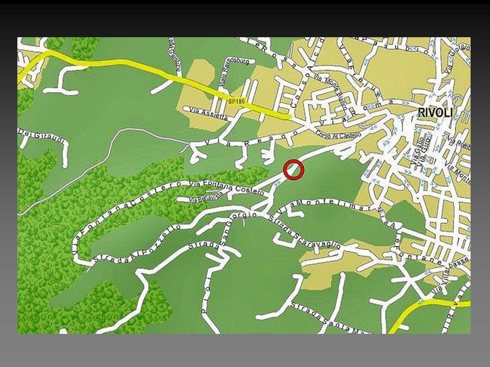 SI può vedere l'ubicazione del liceo,all'inizio della collina
