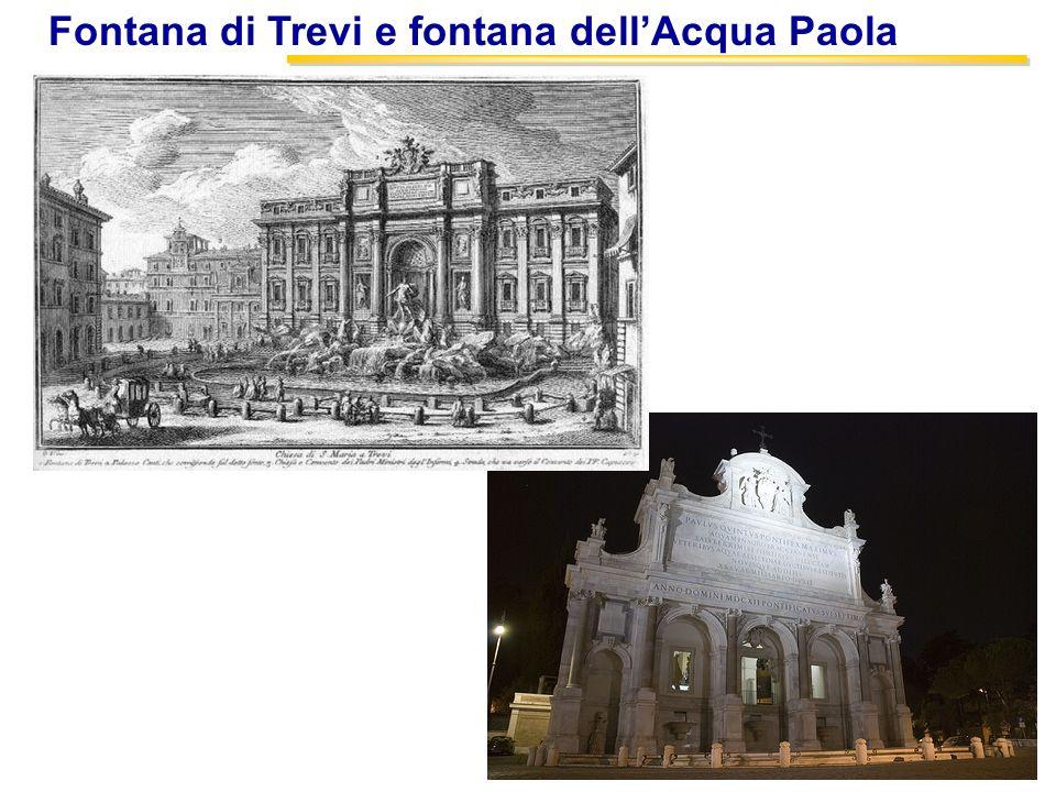 Fontana di Trevi e fontana dell'Acqua Paola