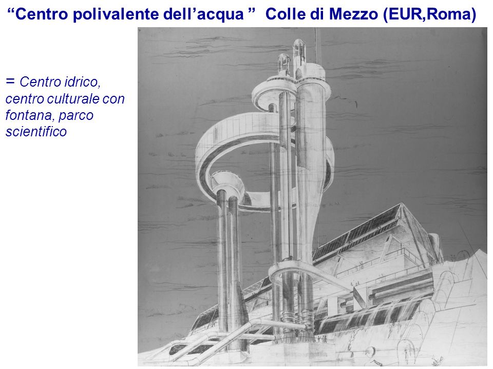 Centro polivalente dell'acqua Colle di Mezzo (EUR,Roma)