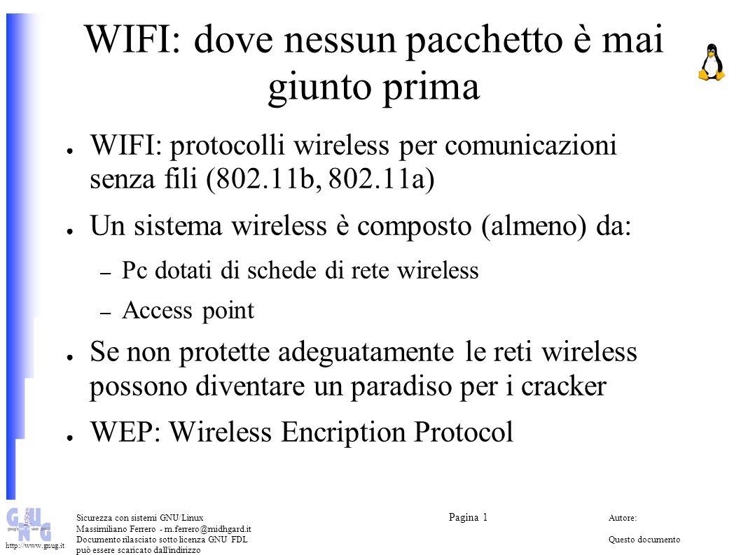 WIFI: dove nessun pacchetto è mai giunto prima