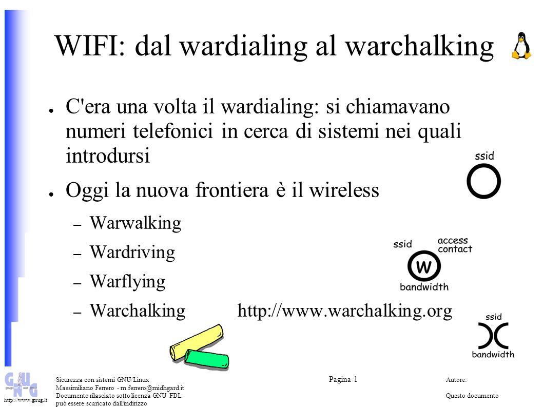 WIFI: dal wardialing al warchalking