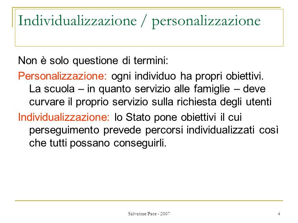 Individualizzazione / personalizzazione