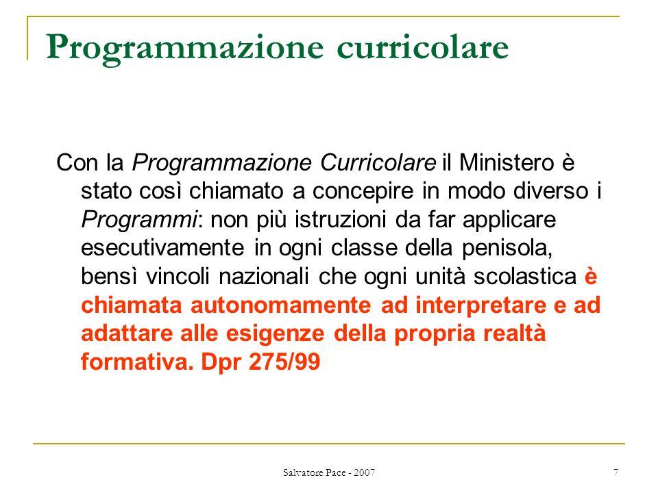 Programmazione curricolare