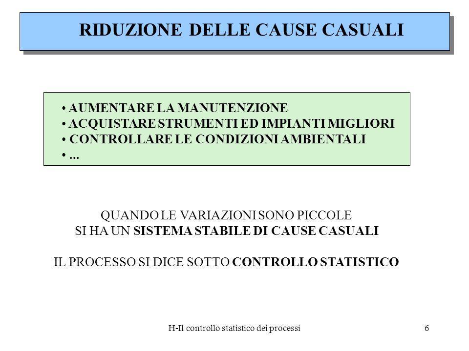 RIDUZIONE DELLE CAUSE CASUALI