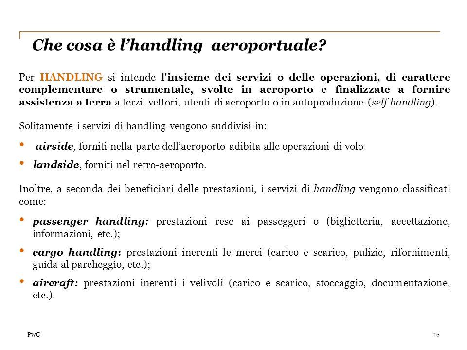 Che cosa è l'handling aeroportuale