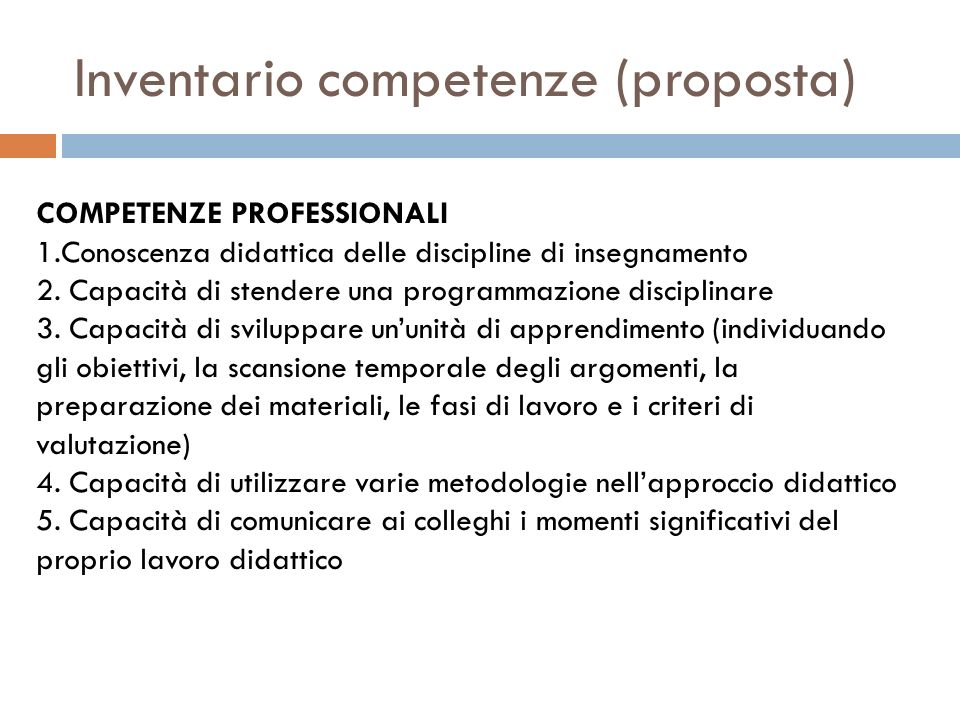 Inventario competenze (proposta)