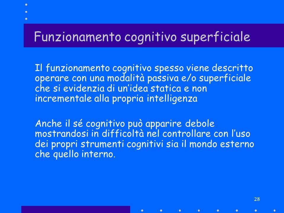 Funzionamento cognitivo superficiale