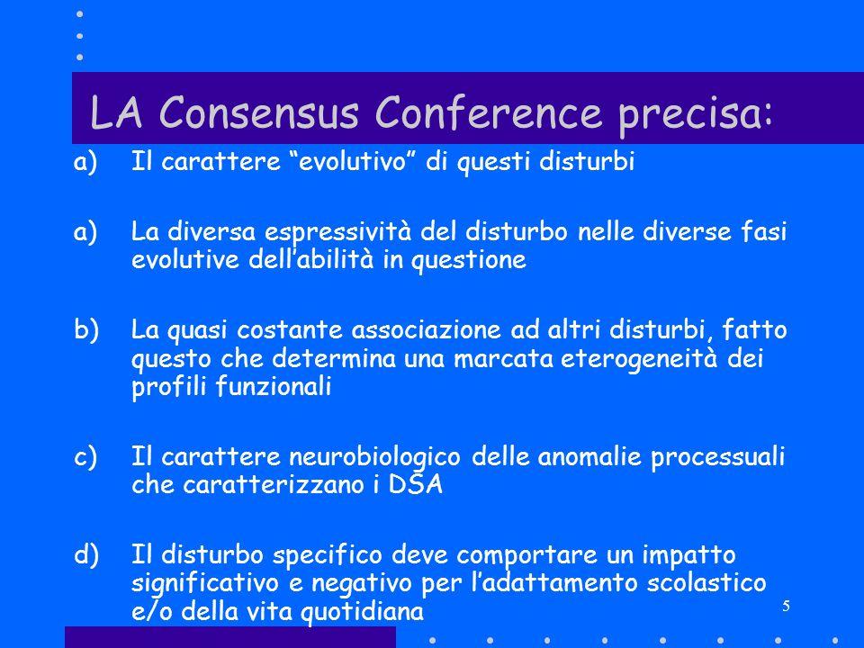 LA Consensus Conference precisa: