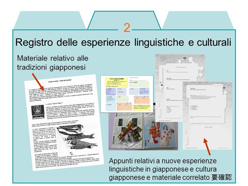 2 Registro delle esperienze linguistiche e culturali