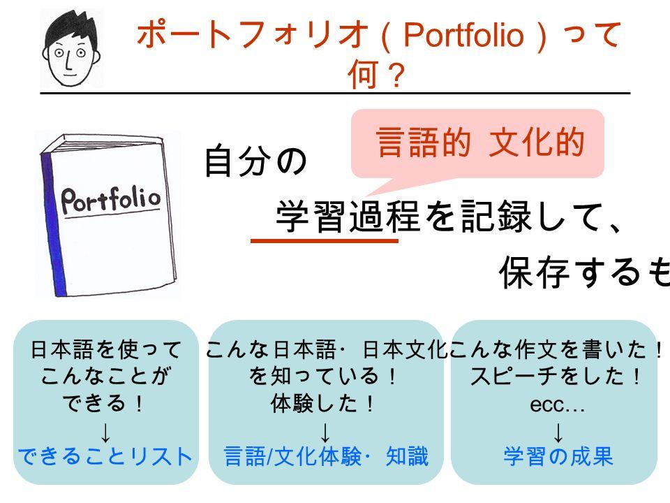 ポートフォリオ(Portfolio)って何?