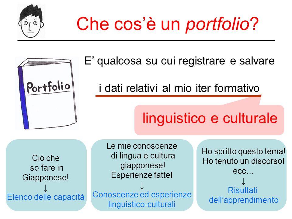 Che cos'è un portfolio linguistico e culturale