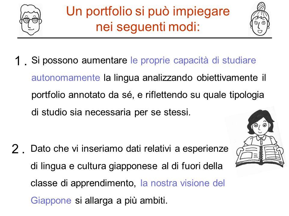 Un portfolio si può impiegare nei seguenti modi: