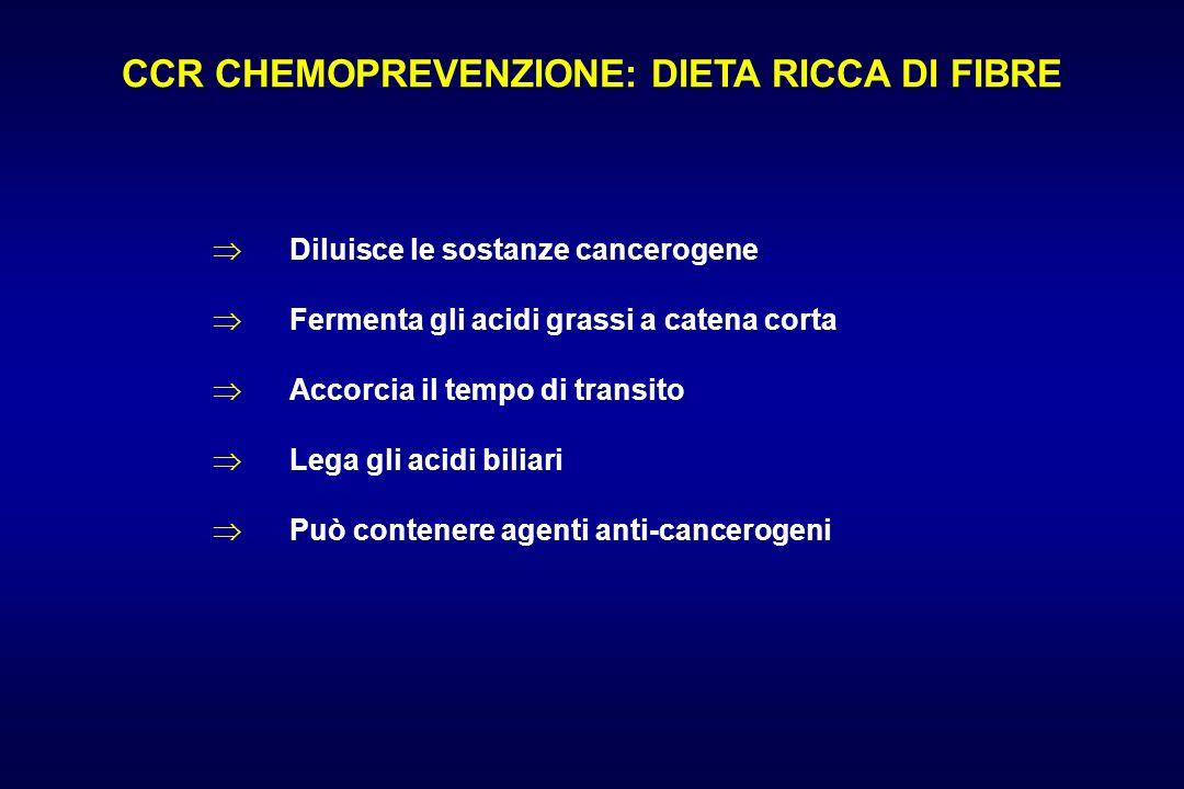 CCR CHEMOPREVENZIONE: DIETA RICCA DI FIBRE