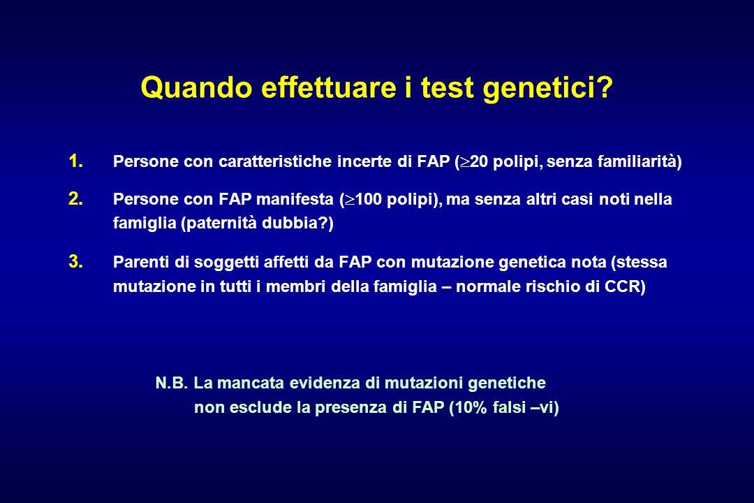 Quando effettuare i test genetici