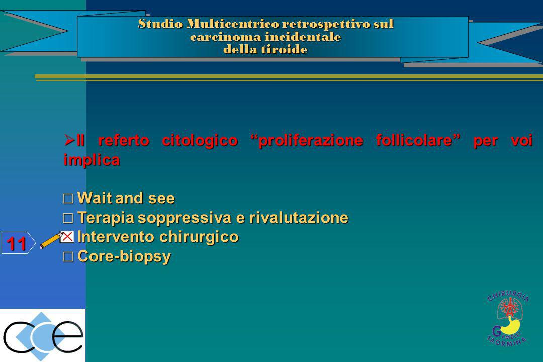 Studio Multicentrico retrospettivo sul carcinoma incidentale