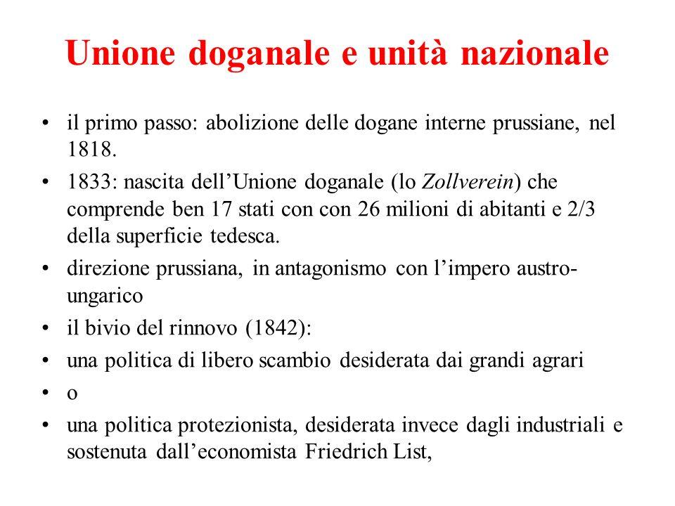 Unione doganale e unità nazionale