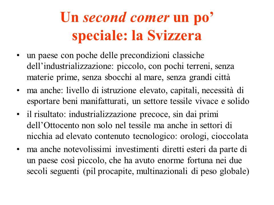 Un second comer un po' speciale: la Svizzera