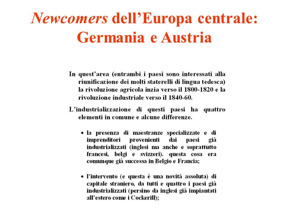 Newcomers dell'Europa centrale: Germania e Austria