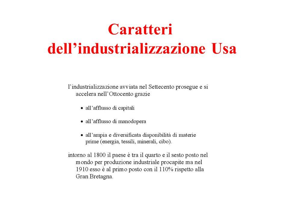 Caratteri dell'industrializzazione Usa
