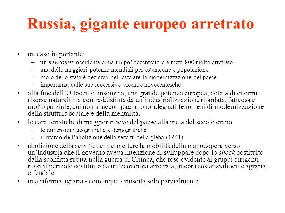 Russia, gigante europeo arretrato