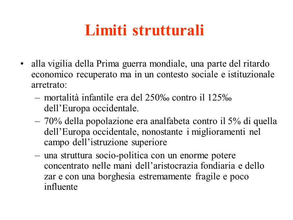 Limiti strutturali