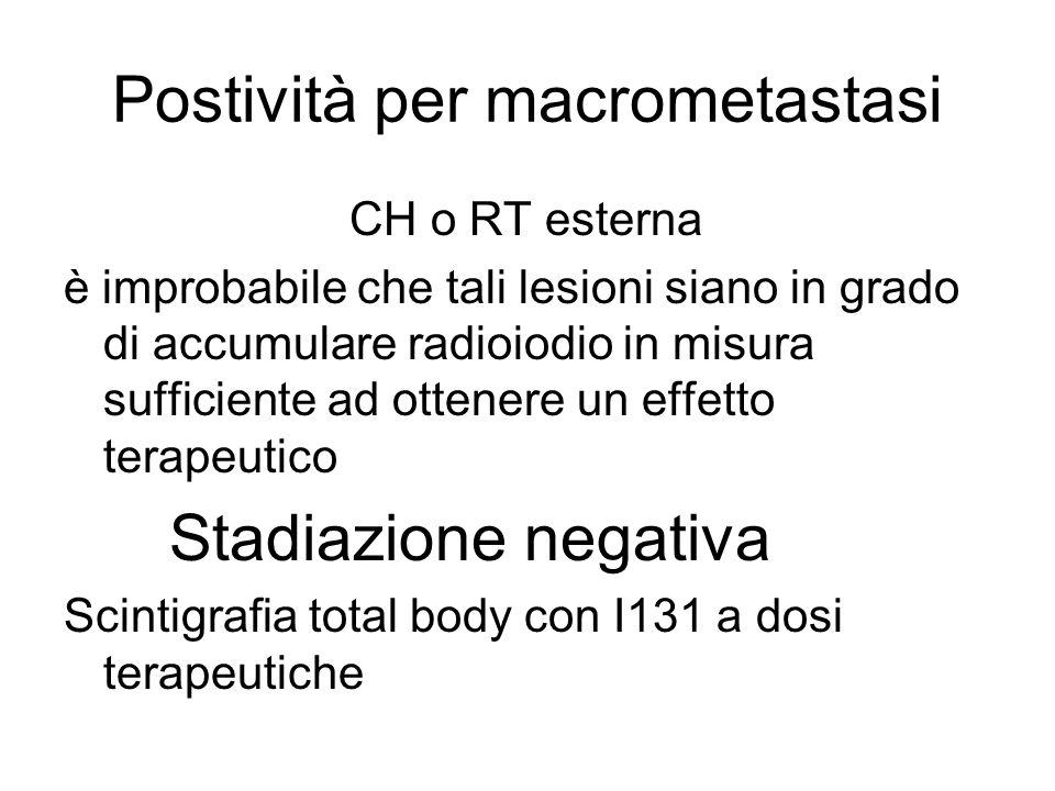 Postività per macrometastasi