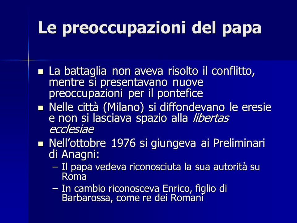 Le preoccupazioni del papa