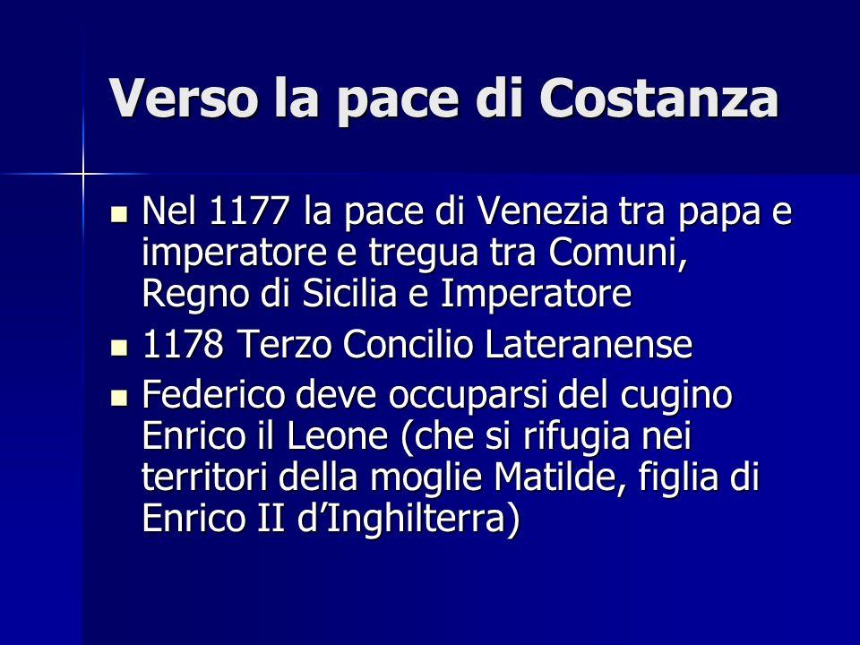 Verso la pace di Costanza