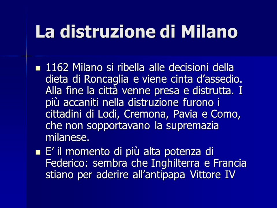 La distruzione di Milano