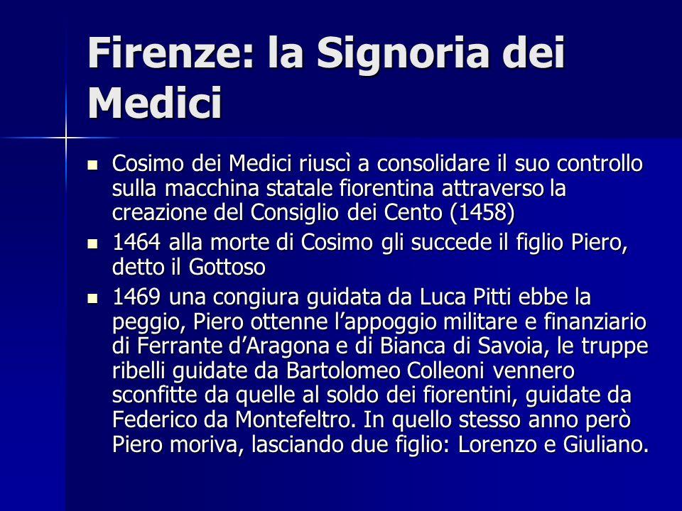 Firenze: la Signoria dei Medici