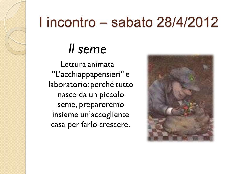 Il seme I incontro – sabato 28/4/2012