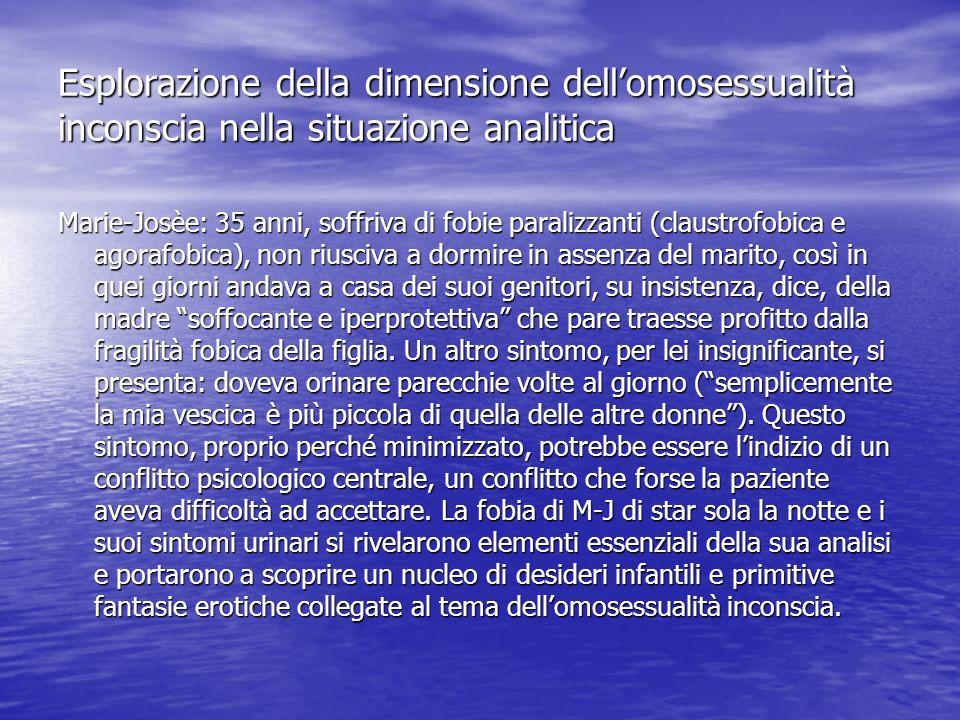 Esplorazione della dimensione dell'omosessualità inconscia nella situazione analitica