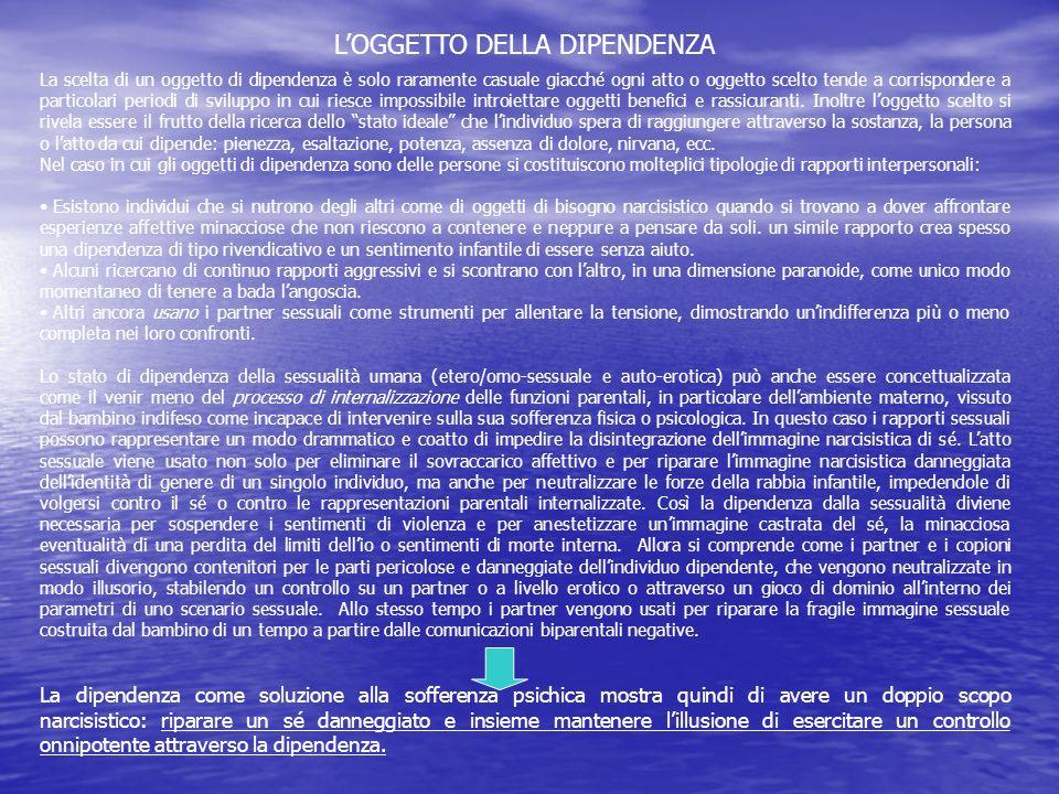 L'OGGETTO DELLA DIPENDENZA