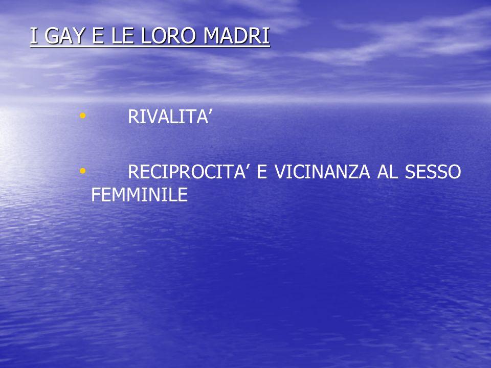 I GAY E LE LORO MADRI RIVALITA'