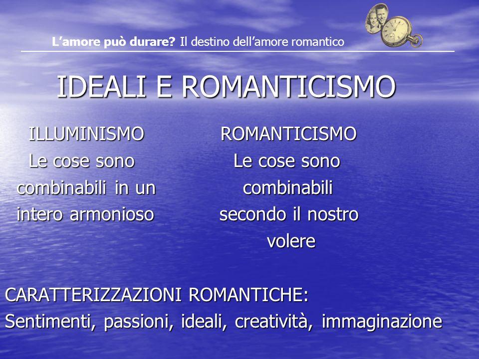 L'amore può durare Il destino dell'amore romantico