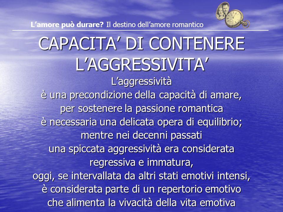 CAPACITA' DI CONTENERE L'AGGRESSIVITA'