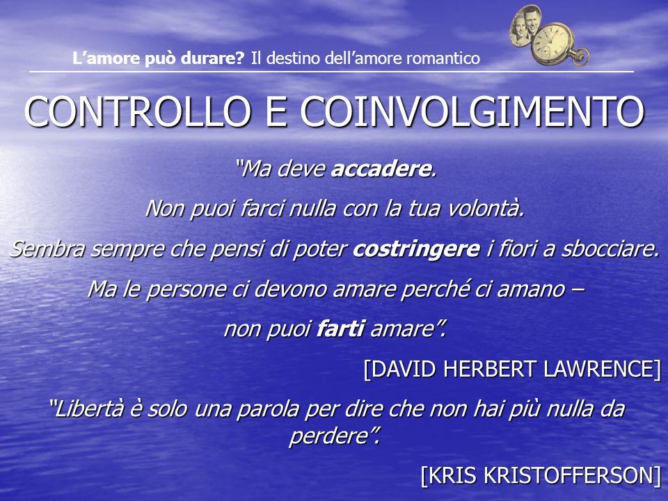 CONTROLLO E COINVOLGIMENTO